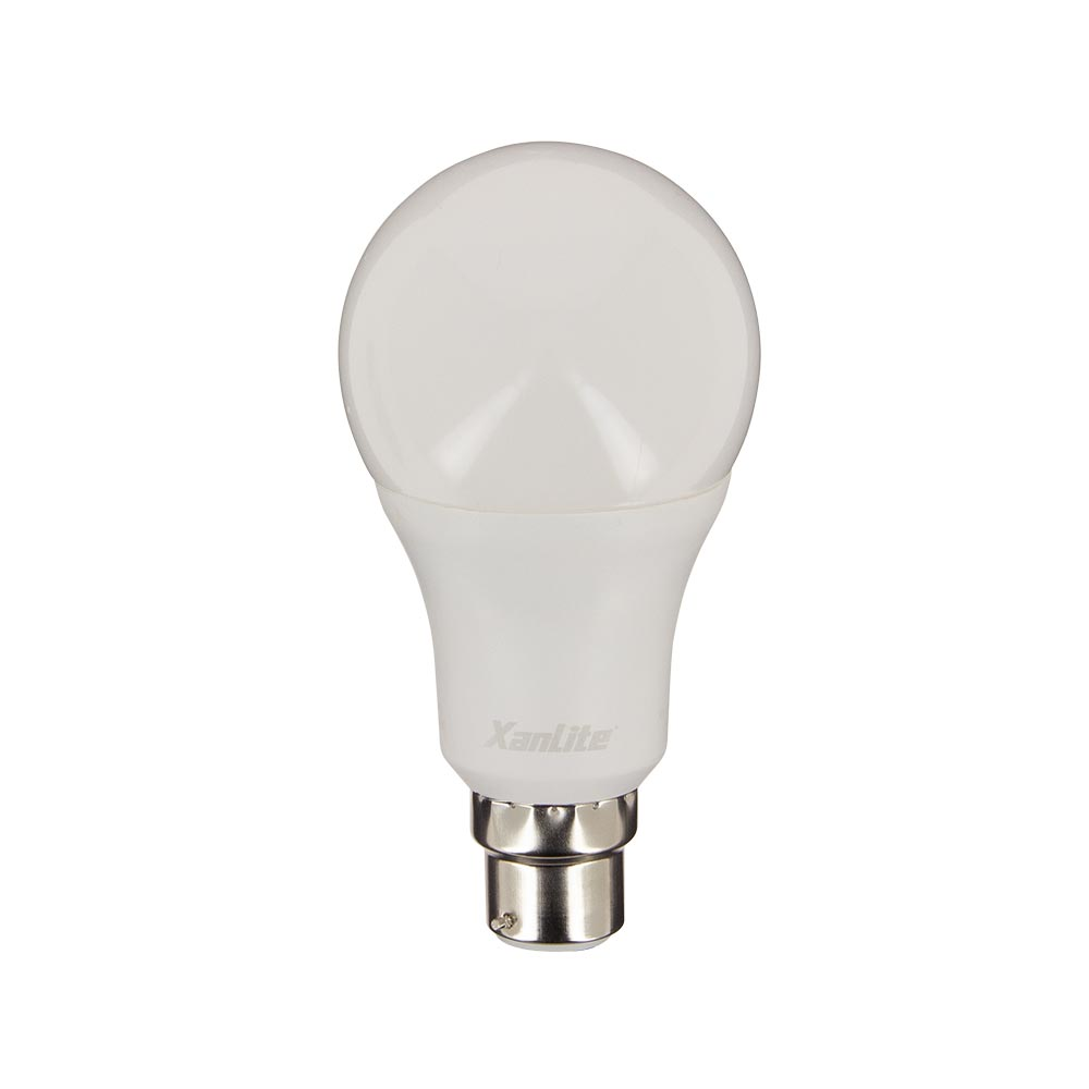 Ampoule LED globe 70 mm de diamètre, culot B22, 14,W cons. (100W eq.), blanc neutre