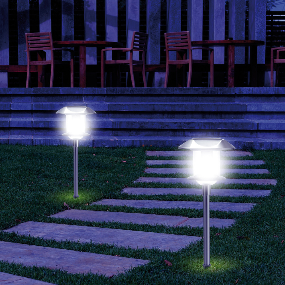 Lot de 2 balises solaires 10 LED
