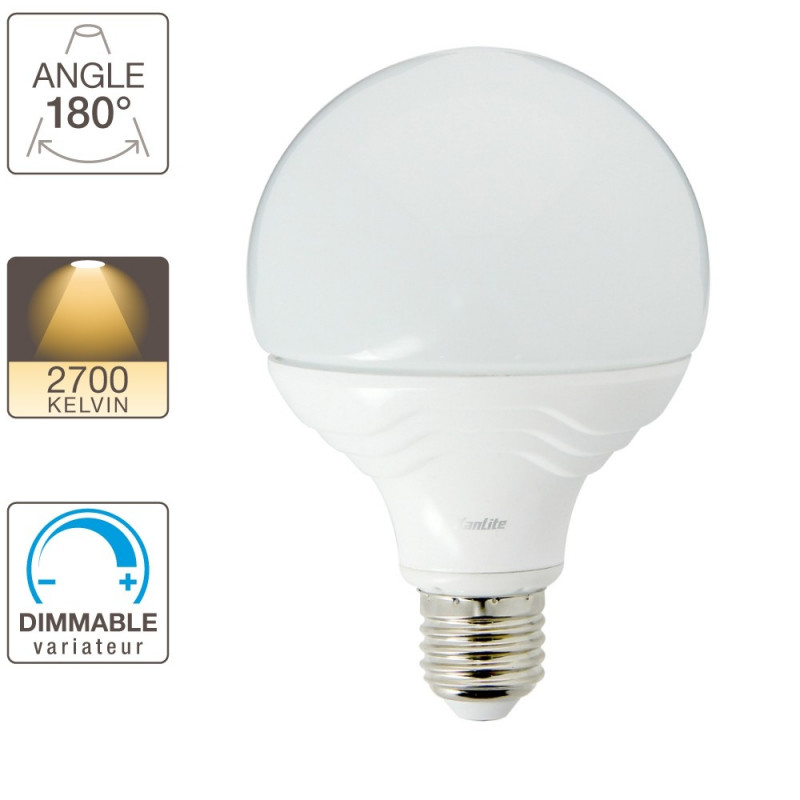 Dimmable Lumens Ee1521bdAmpoule Culot Blanc E27 1521 Led Chaud G95 jRA5L4