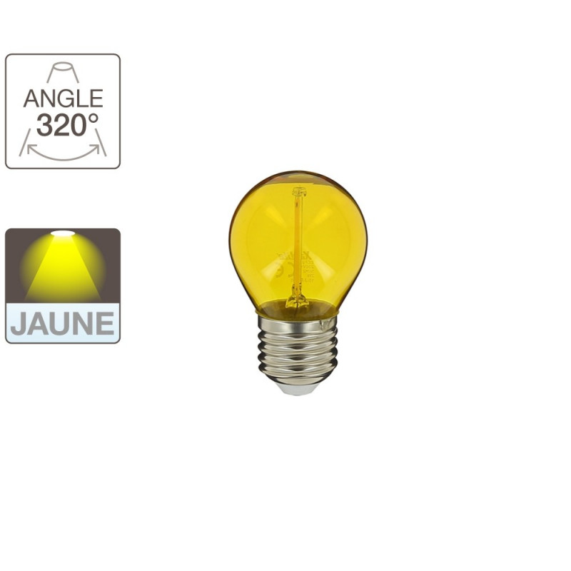 ampoule led lumiere jaune