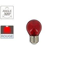 P45 LED light bulb - E27 base - red light