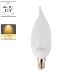LED flame bulb, E14 base, 2,8W cons. (25W eq.), warm white light
