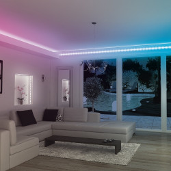 Changing colours 1.5 m LED strip light kit