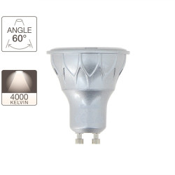 LED spot bulb, GU10 base, 6,5W cons. ( 50W eq.), warm white light