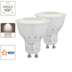 Set of 2 LED spotlights - GU10 base - EDF