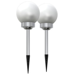 EPSILON Set of 2 Solar powered light posts