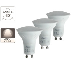 Set of 3 spotlight bulbs - GU10 base - classic