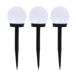 Set of 3 solar powered RGB light posts