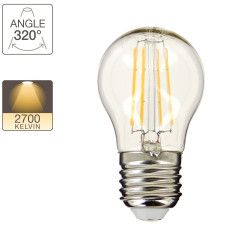 Ampoule LED P45 - culot E27 - retro-LED