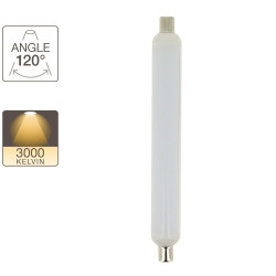LED tube light, S19 base, 8.5W cons. (50W eq.), warm white light