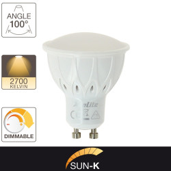 Ampoule LED Smart Lighting, culot GU10, 6,5W cons. (35W eq.), lumière blanc chaud