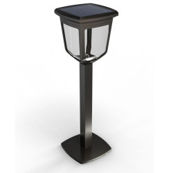 Kappa solar bollard, 200 lumens, with light intensity and temperature variation by remote control