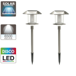 Solar powered light posts disco