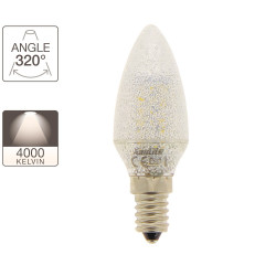 Ampoule flamme - culot E14 - crystal-LED