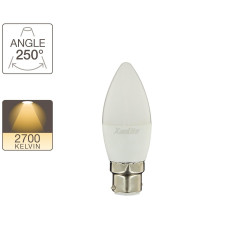 Flame LED light bulb - B22 base - classic