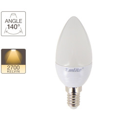 LED Flame Bulb, E14 base, 3W cons. (25W eq.), warm white light