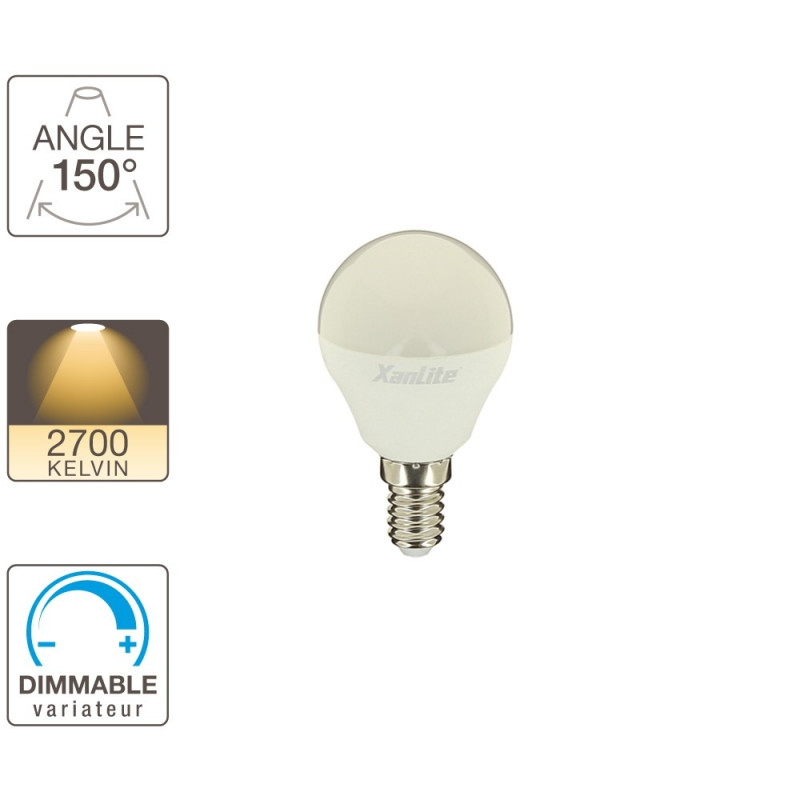 Ampoule LED P45 - culot E14 - dimmable