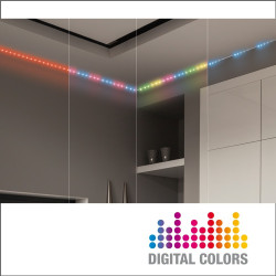 3 m LED strip light kit - RGB - Digital