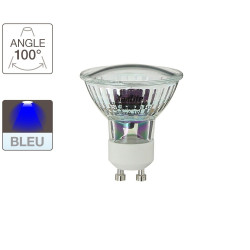 LED spotlight bulb, GU10 base, 0.7W cons. (N.C. eq.), blue light