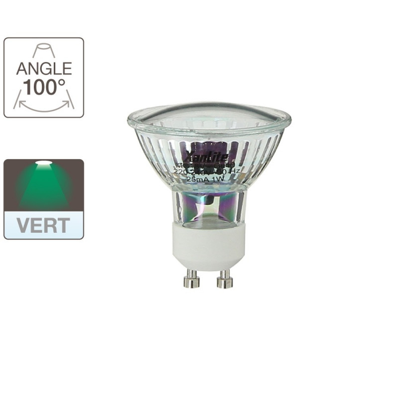 Ampoule LED spot - culot GU10 - color