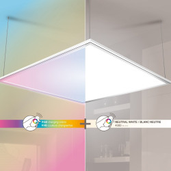 Square ceiling light - 2500 lumens - white and rgb light