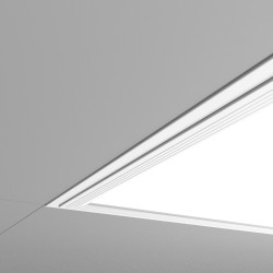 Plafonnier carré à LED - 3100 lumens - intensité variable