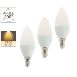 Pack de 2 flamme LED - culot E14 - 2 +1 gratuite