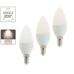 Set of 2 flame LEDs - E14 base - 2+1 free