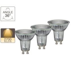 Set of 2 LED spotlights + 1 free - GU10 base - LED-X