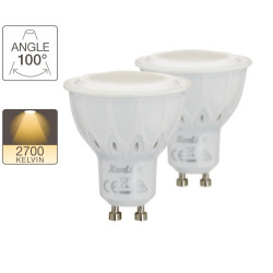 Set of 2 LED spotlight bulbs - GU10 base - classic