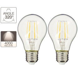 Set of 2 A60 light bulbs - E27 base - retro-LED