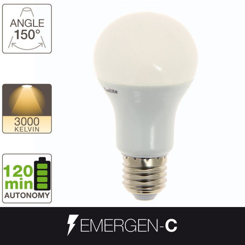 Ampoule LED EMERGEN-C - culot E27 - batterie incluse