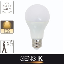 LED SENS-K light bulb - E27 base - motion sensor