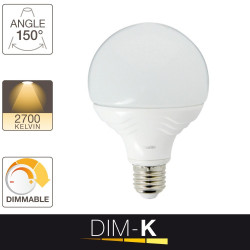 Ampoule LED G95, culot E27, 13,5W cons. (75W eq.), lumière blanc chaud, dimmable par switch 10% - 50% -100%