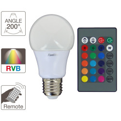 A60 LED light bulb - E27 base - RGB colour