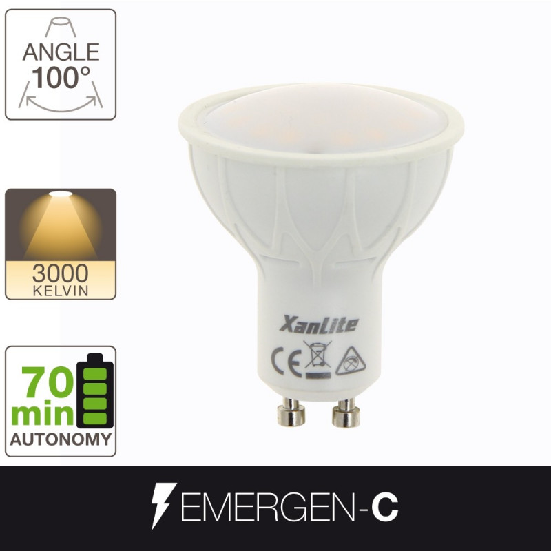 Ampoule LED EMERGEN-C - culot GU10 - batterie incluse