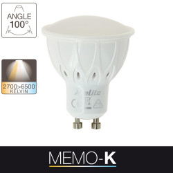 LED light bulb memo-K - GU10 base - light temperature control