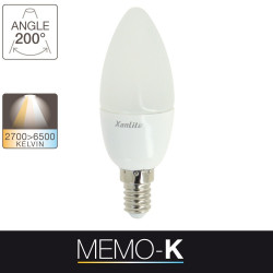 Memo-K LED light bulb - E14 base - light temperature control