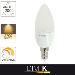 LED flame bulb - E14 base - light temperature control