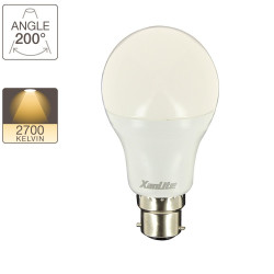 LED globe A60, B22 base, classic