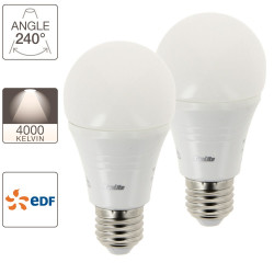 Pack de 2 ampoules LED A60 - culot E27 - Retro-LED EDF