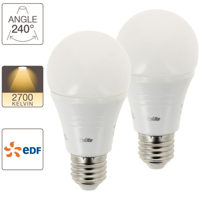 Pack Of 2 A60 Edf Led Light Bulbs Pack2ee806gedf