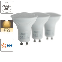 Lot de 3 spot LED, cuLot GU10, EDF