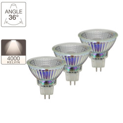 Pack de 2 spots LED + 1 gratuite - culot GU5.3 - LED-X