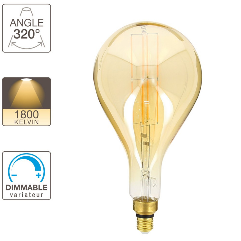 g200 led light bulb e27 base vintage giant filament. Black Bedroom Furniture Sets. Home Design Ideas