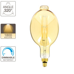 BT180 LED light bulb - E27 base - vintage giant filament