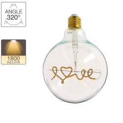 G95 LED light bulb - E27 base - Love