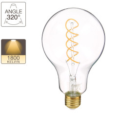 Giant LED bulb, E27 base, 4W cons. (27W eq.), warm white light