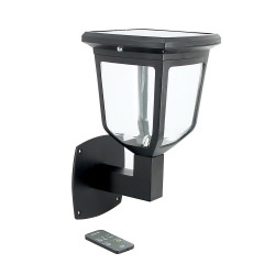 Kappa LED solar wall lamp - 200 lumens - Color temperature change by remote control