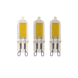 Pack of 3 Caspule bulbs, G9 base, 2W cons. (20W eq.), 200 lumens, warm white light